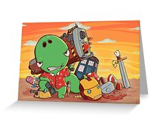 Cool and Nerd Dinosaur  Greeting Card