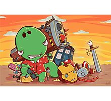 Cool and Nerd Dinosaur  Photographic Print