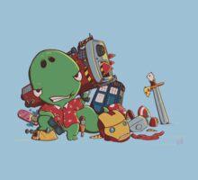 Cool and Nerd Dinosaur  Kids Tee