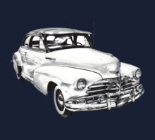 1948 Chevrolet Fleetmaster Antique Car Illustration One Piece - Long Sleeve