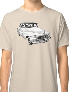 1948 Chevrolet Fleetmaster Antique Car Illustration Classic T-Shirt