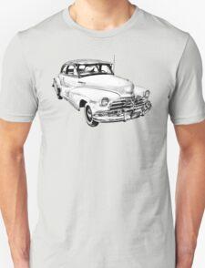 1948 Chevrolet Fleetmaster Antique Car Illustration T-Shirt