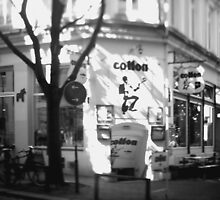 Hamburg Neustadt -street b&w by OLIVER W