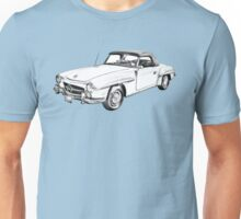Mercedes Benz 300 sl Illustration Unisex T-Shirt