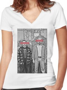 The Chemist and the Entrepreneur - Breaking Bad Women's Fitted V-Neck T-Shirt