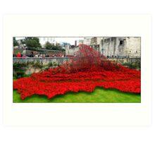 Tower Poppies, London Art Print