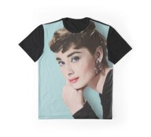 Movie star art - Audrey Hepburn Graphic T-Shirt