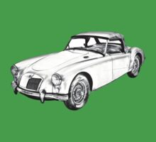 MG Convertible Sports Car Illustration One Piece - Short Sleeve