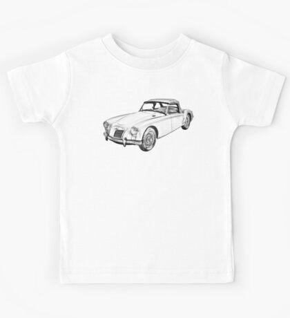 MG Convertible Sports Car Illustration Kids Tee