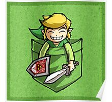 Happy Pocket Link Legend of Zelda T-shirt Poster