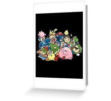 Smash Brawl Greeting Card