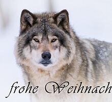 Timber Wolf Christmas Card - German - 21 by WolvesOnly
