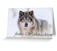 Timber Wolf Christmas Card - German - 21 Greeting Card