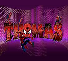 THOMAS /  spider man style name illustration by FSImages