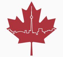 Maple Leaf Skyline - Canada Kids Tee