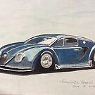 Bugatti car by fladelita