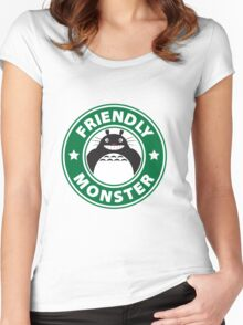 Friendly Monster Women's Fitted Scoop T-Shirt