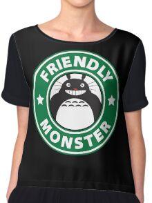 Friendly Monster Chiffon Top