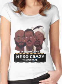 MIR FONTANE - HE SO CRAZY: MARTIN, COLE AND TOMMY Women's Fitted Scoop T-Shirt