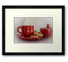 Time to take a well earned break Framed Print