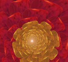 Red Flower Fractal Sticker