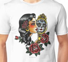 Lady Head Reflection Unisex T-Shirt