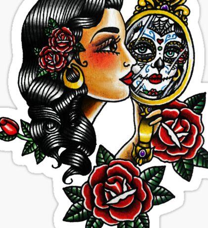 Lady Head Reflection Sticker