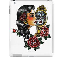 Lady Head Reflection iPad Case/Skin