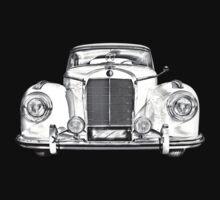 Mercedes Benz 300 Luxury Car Illustration Kids Tee