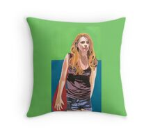 I claw at your cultures mixed bag of emptiness (Misha Barton) Throw Pillow