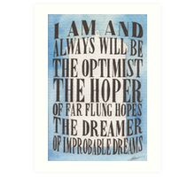 The Dreamer of Improbable Dreams Art Print