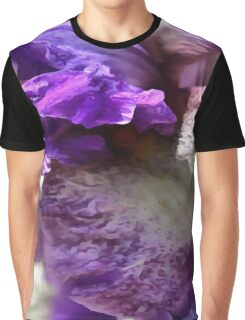 Purple, Violet and Mauve Iris Abstract Graphic T-Shirt
