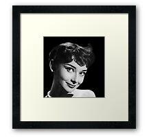 Movie star art - Audrey Hepburn Framed Print