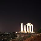 Ancient Korinthos by night by zumi