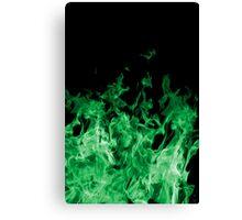 Green Flame Canvas Print
