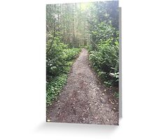 Forest Hiking Path Greeting Card