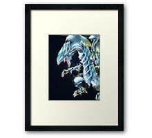 Blue Eyes White Dragon Framed Print