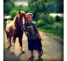 A Boy and his Pony Photographic Print