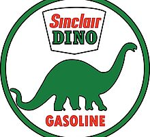 Sinclair Dino Gasoline sign. Clean version by htrdesigns