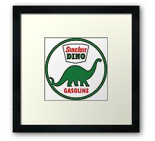Sinclair Dino Gasoline sign. Clean version Framed Print