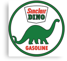 Sinclair Dino Gasoline sign. Clean version Canvas Print