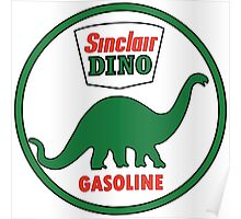 Sinclair Dino Gasoline sign. Clean version Poster