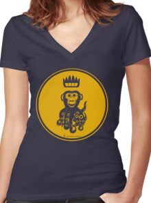Octochimp - single colour Women's Fitted V-Neck T-Shirt