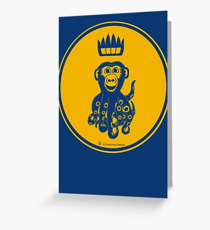 Octochimp - single colour Greeting Card