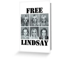 FREE LINDSAY  Greeting Card