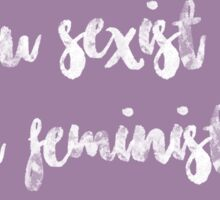 I WILL FEMINIST YOU Sticker