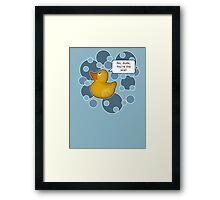 ♥ Rubber Ducky ♥ Framed Print
