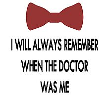 Doctor Who: I Will Always Remember Photographic Print