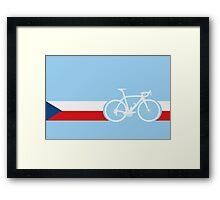 Bike Stripes Czech Republic Framed Print