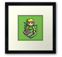 Pocket Link Legend of Zelda T-shirt Framed Print